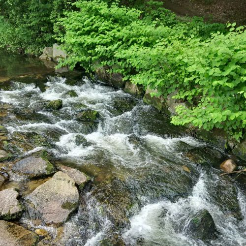 river fluent flow water