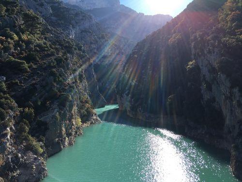 water canyon sun
