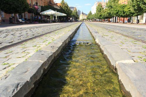 water kosice main street