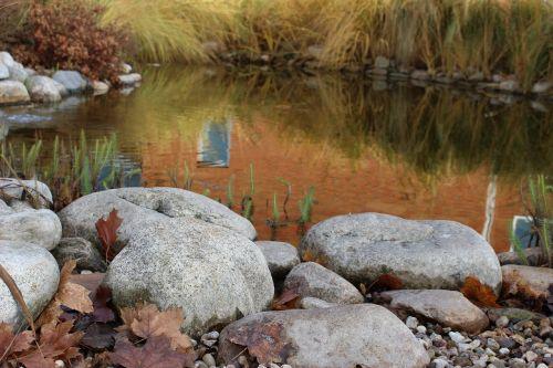 water lagoon stones