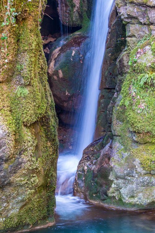 vanduo,krioklys,Juodasis miškas,idilija,riaumojantis krioklys,mažas krioklys,gamta