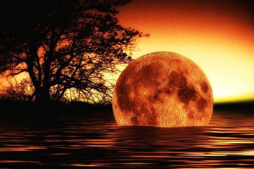 water wave moon