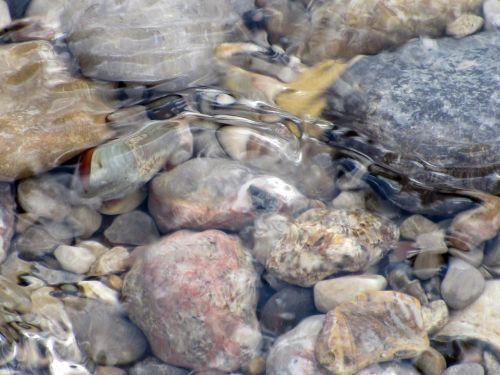 water stones nature