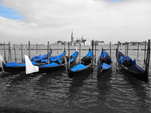 water gondola blue