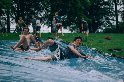 water slide people