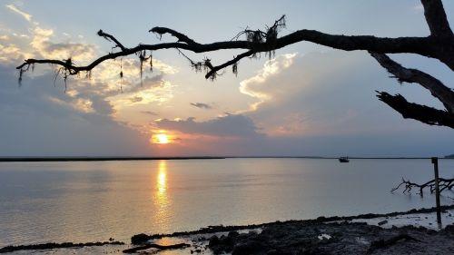 water cumberland island sunset