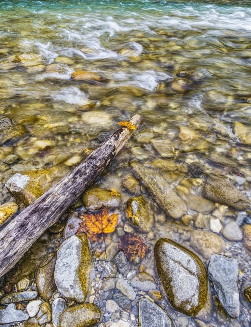 water river stones