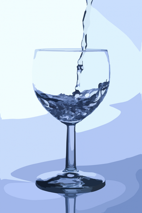 water glass pouring