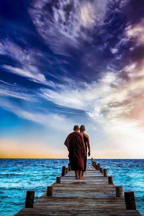 water  sunset  sea