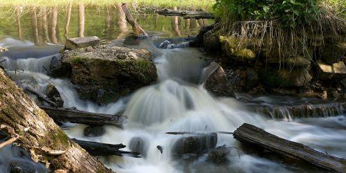 water flowing river
