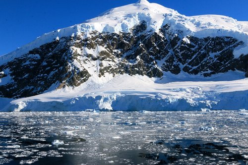 water  lake  antarctic mountain