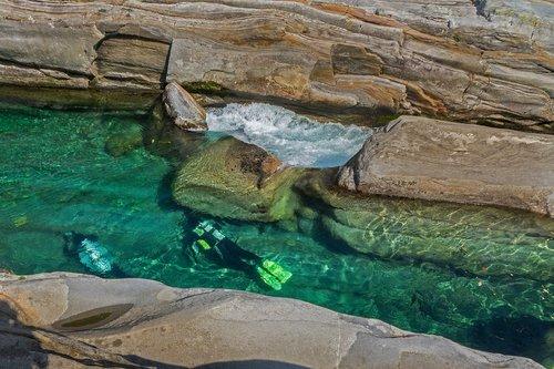 water  river  divers