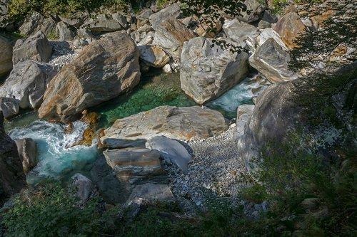 water  river  rock