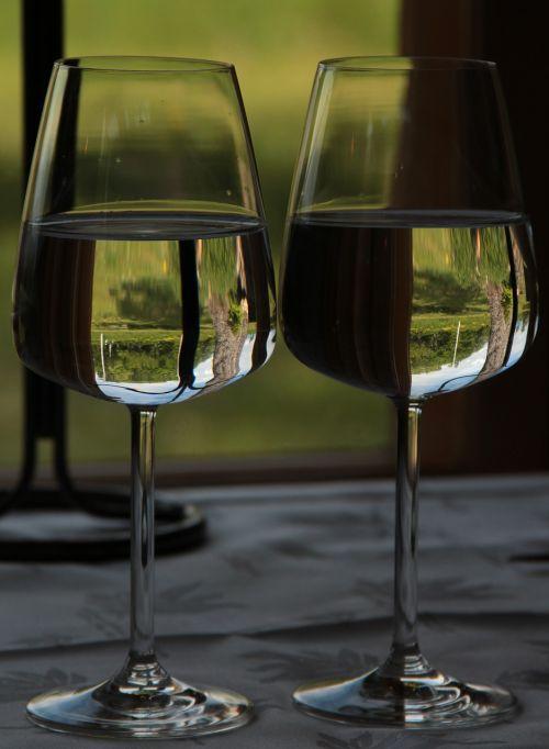 water wine glasses drink