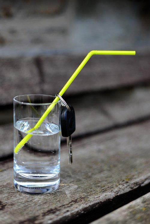 water  water glass  car keys