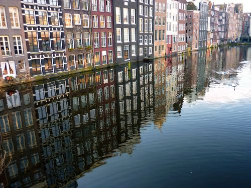water canals mirroring