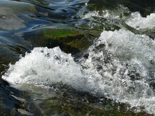 water bubbly river