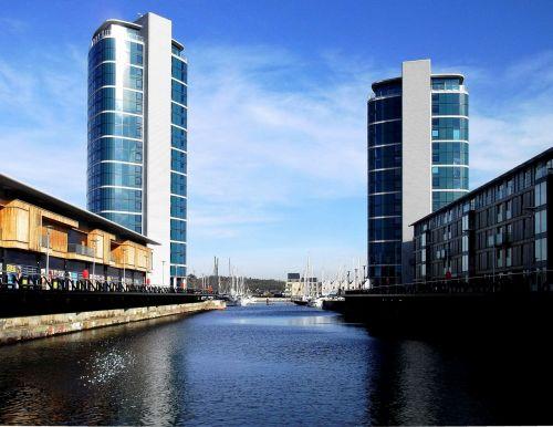 water buildings highrise