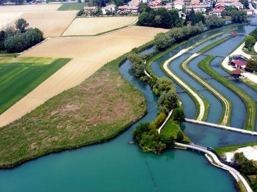 water blue channels