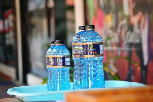 water bottle refreshing