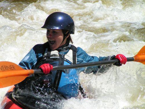 water kayaking kayaker
