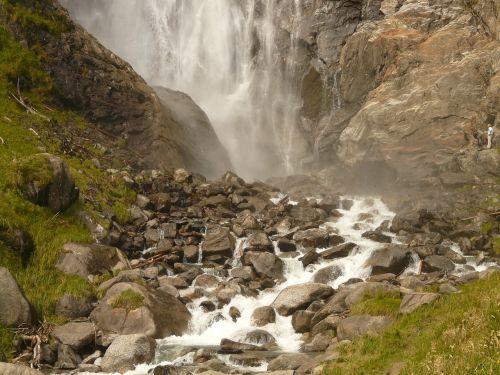 water waterfall spray