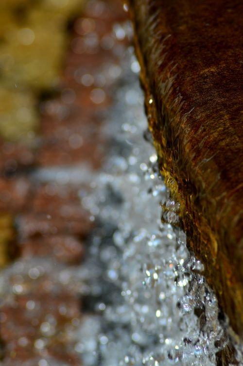 water closeup fountain