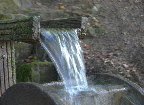 water waterwheel water running