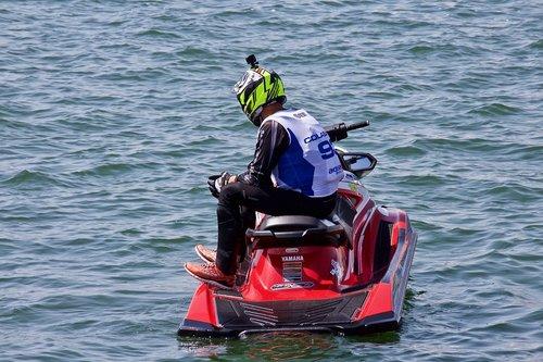 water bike  sea  splash