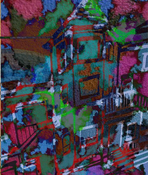 Water Color City Mural
