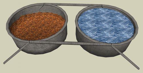 water dish dog food dish bowl