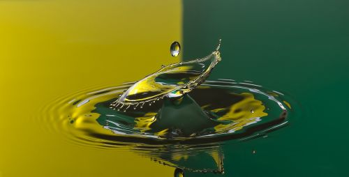 water drop drop yellow
