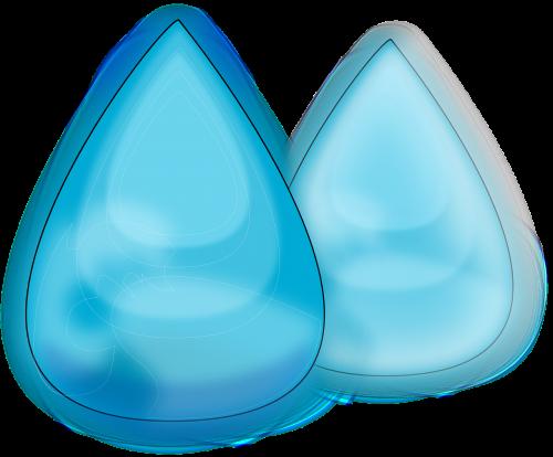 water drops rain blue