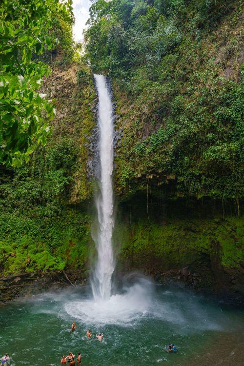water fall costa rica tropical
