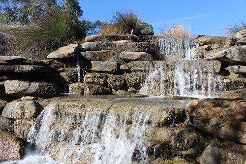 water feature  cascade  landscaping design