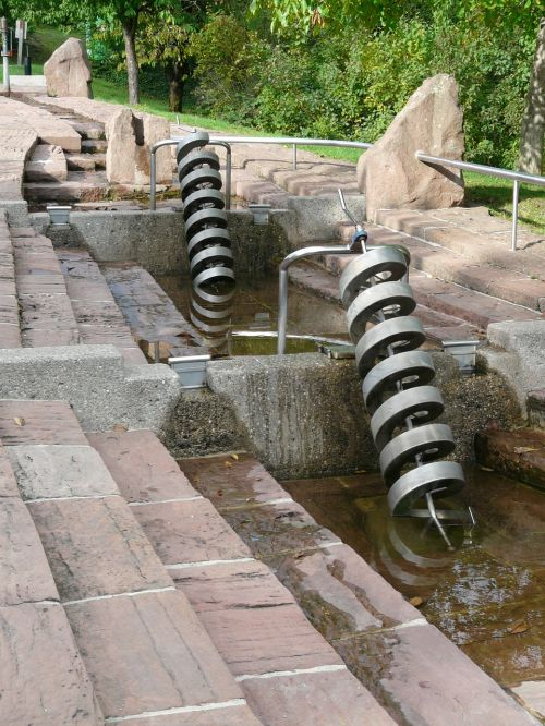 water feature spiral water transport