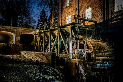 water mill old waterwheel