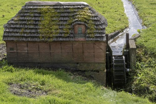 water mill  miniature  water