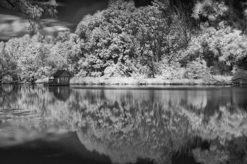 Water Mill Infrared Bw