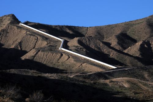 Water Pipelines In The Mountains