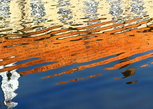 water reflection wasserburg moat