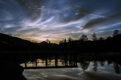 water reflection lake sunrise