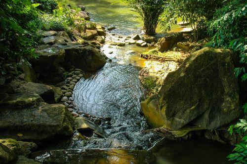 water running fluent river landscape