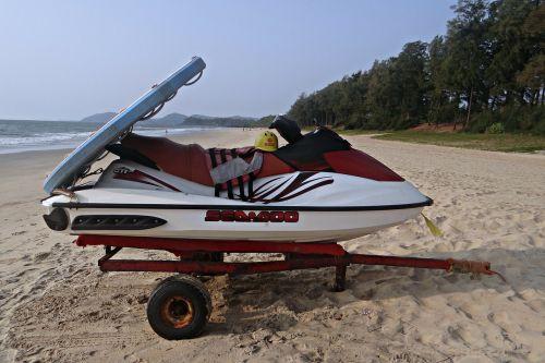 water scooter beach arabian sea