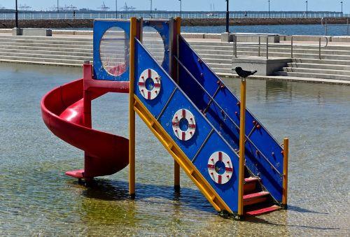 water slide water park recreation