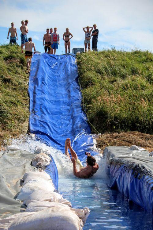 water slide fun children