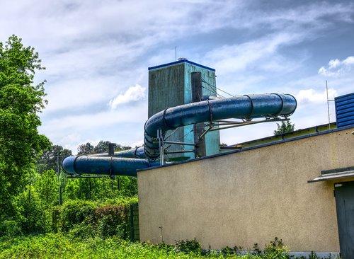 water slide  swimming pool  adventure