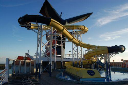 water slide pool carnival