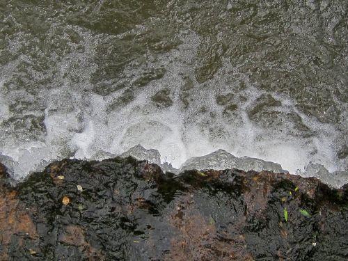 Water Spilling Over Rocks