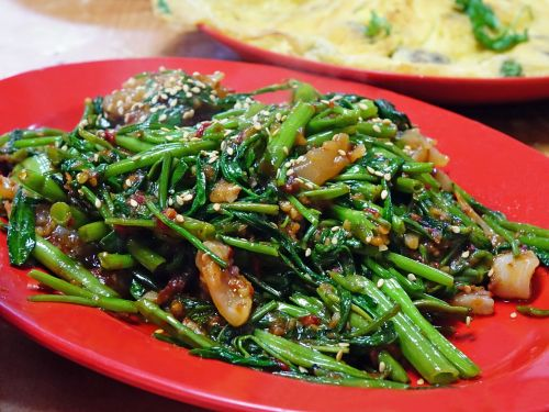 water spinach kangkong sambal chilli